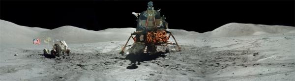 Apollo 17 Lunar Module in the Valley of Taurus Littrow