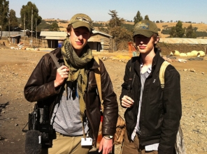 Elliot & Zander on location in Ethiopia