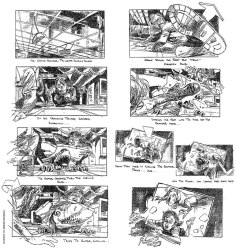 Jurassic Park Storyboard - feat. Spielberg cameo!