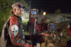 Robert Rodriquez on the set of  Planet Terror GRINDHOUSE