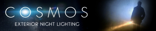 COSMOS Banner Exterior Night Lighting