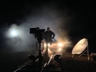 "Joe ""Crazy-Legs"" Bunce admiring his track work - Cosmos Night Exterior Field"
